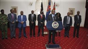 Le président kényan Uhuru Kenyatta, lors de son allocution, ce 24 septembre 2013.