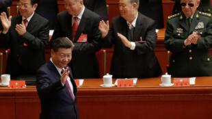 Chủ tịch Trung Quốc Tập Cận Bình lúc đến khai mạc Đại Hội 19 của ĐCSTQ, ngày 18/10/2017.