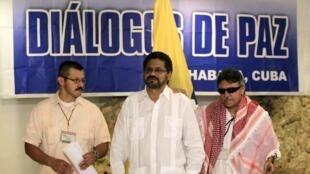 Negociadores de las FARC en La Habana, diciembre de 2013.