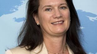 图为瑞典外交部长Ann Linde