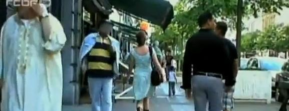 Image extraite du film «Femme de la rue» de Sofie Peeters, dont des extraits ont été diffusés largement sur YouTube.