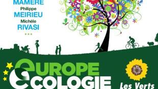 Affiche des Assises nationales du rassemblement des écologistes.