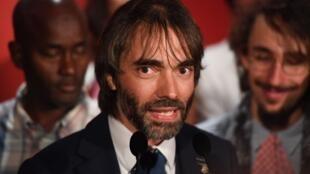 Cedric Villani, à l'annonce de sa candidature à la mairie de Paris, le 4 septembre 2019.