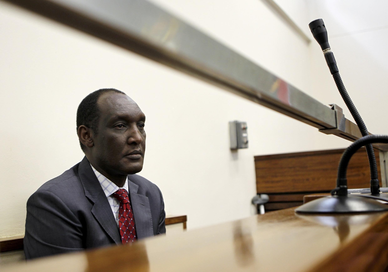 Le général rwandais en exil Kayumba Nyamwasa lors d'une audience au tribunal de Johannesburg,  le 21 juin 2012