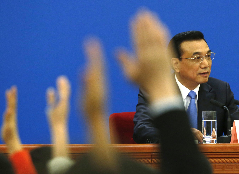 Премьер Госсовета Китая Ли Кэцян на пресс-конференции, Пекин, 15 марта 2014 г.