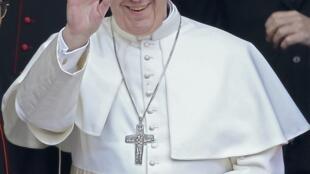 O Papa Francisco, o novo pontífice da Igreja Católica, em 13 de março de 2013.