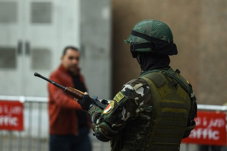 An member of the Egyptian special forces.French technology companies are accused of selling surveillance equipment to Egypt and Libya, which human rights groups say were used to imprison and torture regime opponents.