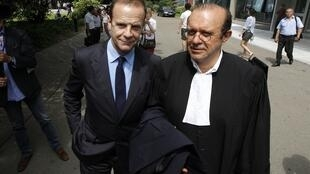 François-Marie Banier with his lawyer