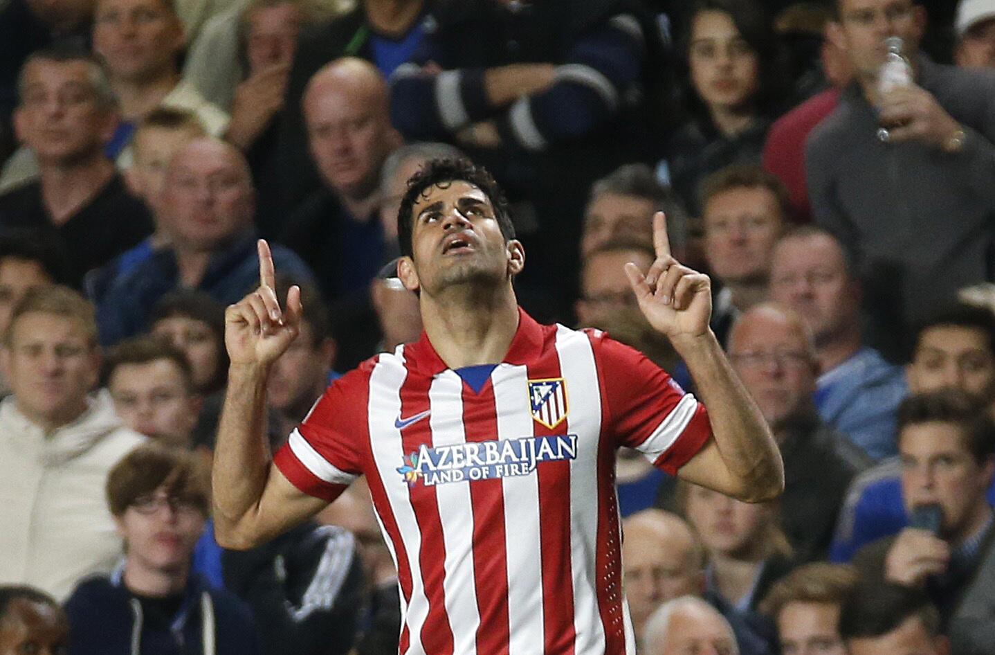 O atacante hispano-brasileiro do Atlético de Madri, Diego Costa.
