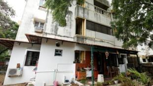 L'ancien appartement des grands-parents maternels de la sénatrice américaine Kamala Harris où elle s'est rendue occasionnellement, à Chennai, en Inde, le 12 août 2020.