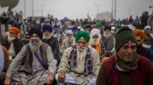 AP21008395286216 Inde manifestation rassemblement agriculteurs