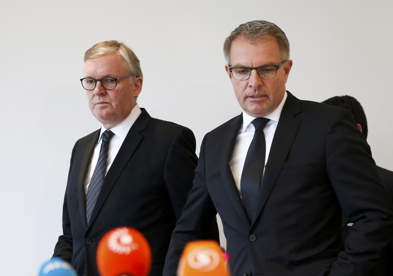 O presidente da Lufthansa deu uma coletiva de imprensa esta tarde