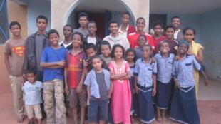 Enfants réfugiés de l'Ecole des Sables à Ouagadougou