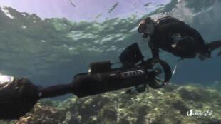 Christophe Bailhache, en exploration sousmarine.