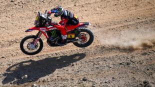 Le Chilien Jose Ignacio Cornejo Florimo (Honda) lors du prologue du Dakar, près de Djeddah, le 2 janvier 2021