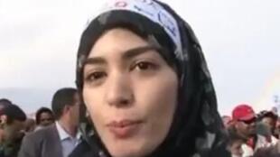 Amina Terrass, étudiante, militante du Mouvement du 20 février.