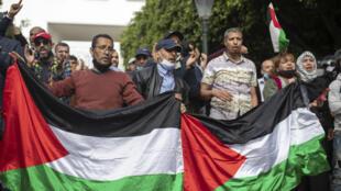 Flag - drapeau - palestine - maroc - manifestation - soutien