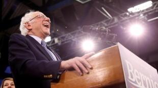 Le candidat démocrate Bernie Sanders est arrivé en tête de la primaire démocrate dans le New Hampshire, le 11 février 2020.