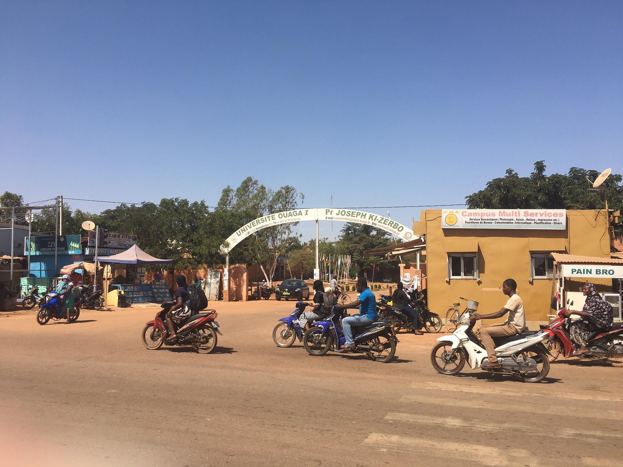 Entrée du campus de l'université Ouaga 1 au Burkina Faso, le 20 novembre 2020.