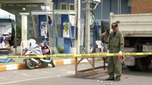 Cảnh sau vụ nổ bom ở địa điểm du lịch Hua Hin, ngày 12/08/2016.