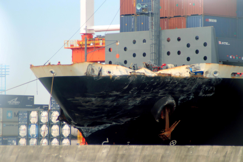 掛菲律賓國旗的ACX Crystal號貨輪2017年6月19日