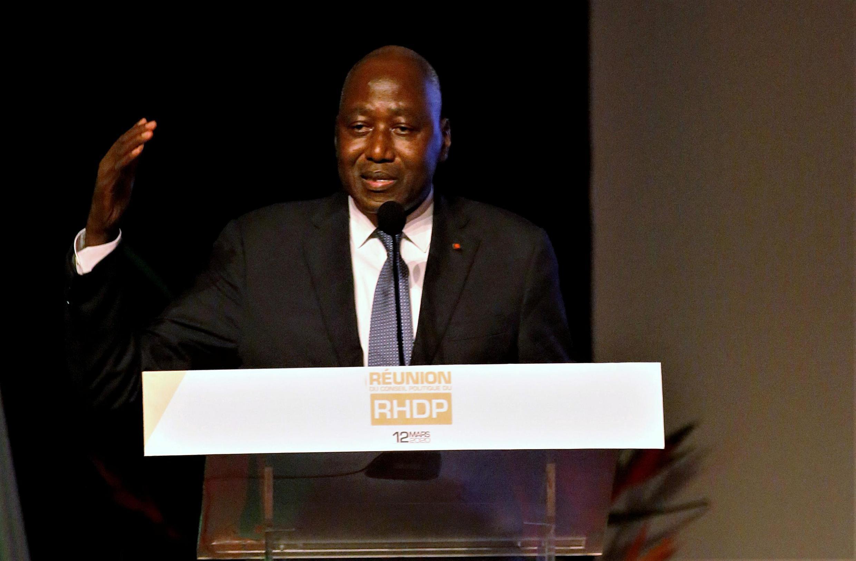 Amadou Gon Coulibaly. Ici, le 12 mars 2020.
