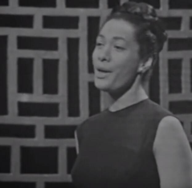 A cantora carioca Maria D'Apparecida, em vídeo do Instituto Nacional do Audiovisual (INA) da França.