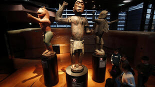 Three royal statues of the Kingdom of Dahomey (now Benin) are exhibited at the Quai Branly Jacques Chirac Museum in Paris.