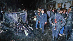 The scene of the bombing near the synagogue in the rue Copernic in 1980
