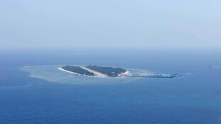 Đảo Ba Bình do Đài Loan kiểm soát ở Trường Sa. Ảnh chụp từ trên không ngày 23/03/2016.