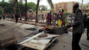 Des manifestants réclament la démission du président de la République Ibrahim Boubacar Keïta, à Bamako. Le 10 juillet 2020.