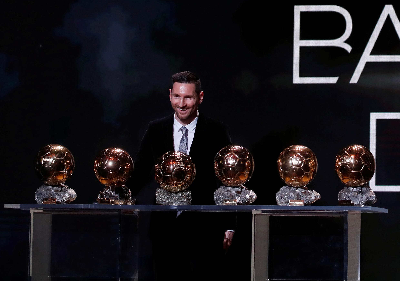 Lionel Messi, avançado argentino venceu pela sexta vez a Bola de Ouro.