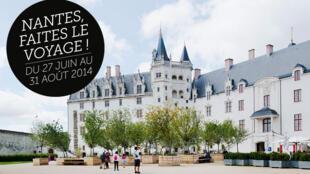 L'affiche de l'exposition Voyage à Nantes.