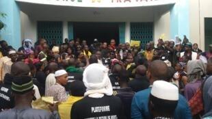 Les associations du centre du pays ont manifesté à Bamako pour alerter sur la situation dans leur région, à Bamako le 10 juillet.