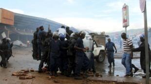 Jami'an tsaro na murkushe masu zanga-zanga a Burundi