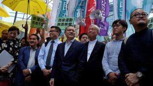"""Manifestantes de """"Occupy Central"""" en Hong Kong, 19 septiembre  2017."""