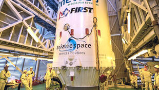 six petits satellites qui ont été acheminés sans encombre à bord d'une fusée Soyouz depuis le port spatial de Kourou à 1 000 kilomètres de la Terre.