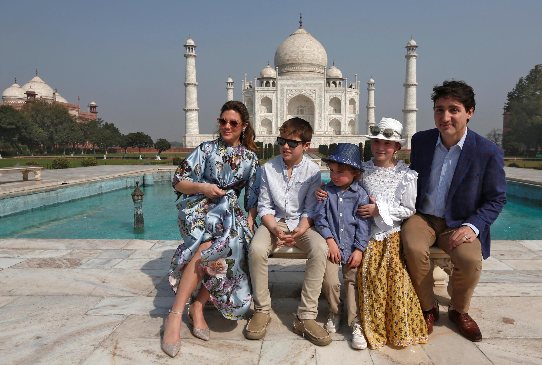 加拿大總理杜魯道攜帶家人訪印度  2018年2月18日