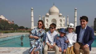 加拿大总理杜鲁道携带家人访印度  2018年2月18日