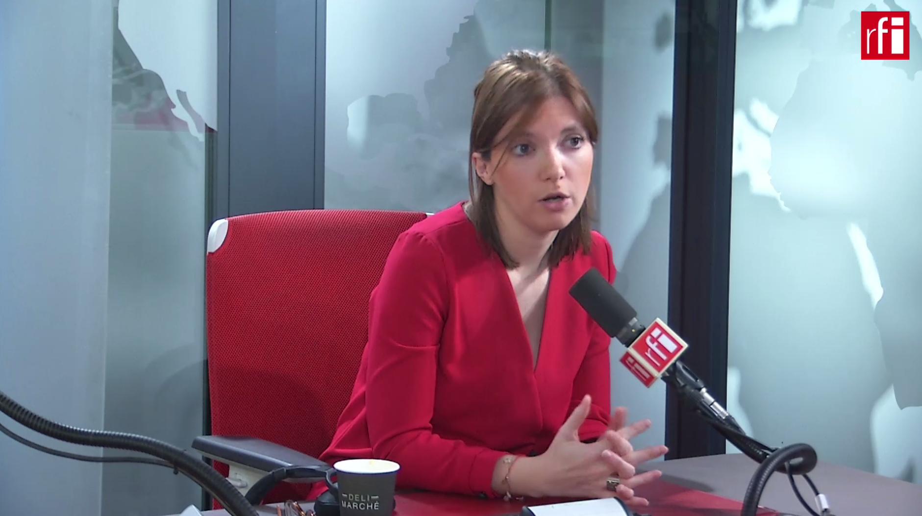 Aurore Bergé sur RFI le20 février 2019.
