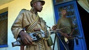 Garde armé à Bunia, principale cité de l'Ituri. (Image d'illustration)