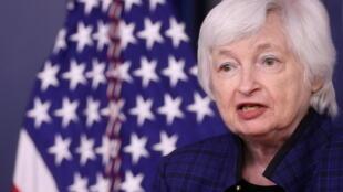 美国财政部长耶伦资料图片