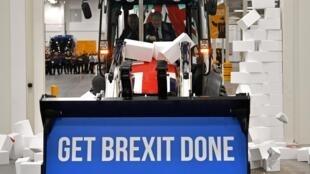 Boris Johnson promete avançar com o Brexit até 31 de Janeiro. Uttoxeter, 10 de Dezembro de 2019.
