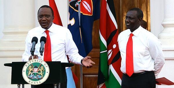 Rais wa Kenya Uhuru Kenyata na Naibu wa Rais William Ruto