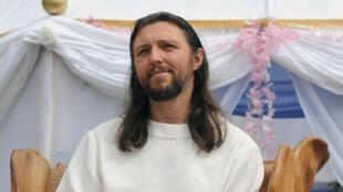 Le gourou Sergueï Torop, à la tête de «l'Église du Dernier Testament», ici photographié le 28 août 2009.