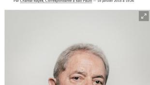 Imagem de julho de 2016 ilustra a entrevista concedida pelo ex-presidente Lula ao Libération e outras publicações estrangeiras.