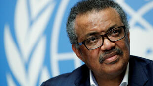 Director-General of the World Health Organization (WHO) Tedros Adhanom Ghebreyesus at the United Nations in Geneva