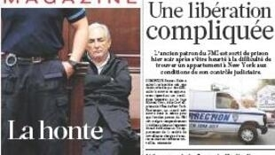 Prisão domiciliar de Dominique Strauss-Kahn foi manchete em todos os jornais.