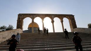 Wani bangare na farfajiyar masallacin Quds