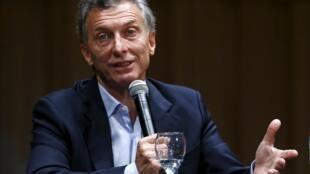 O recém-eleito presidente argentino Mauricio Macri.